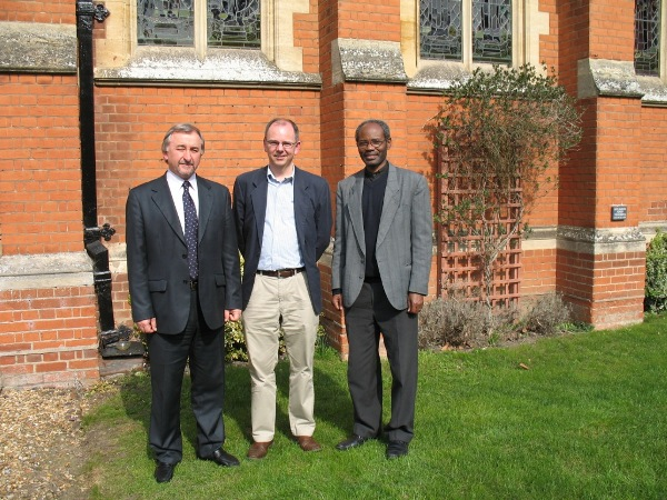 Andrew Norman, Principal of Ridley (middle) with international sabbatical guests Stelian Stofana (Romania) and Mwita Akiri (Tanzania)