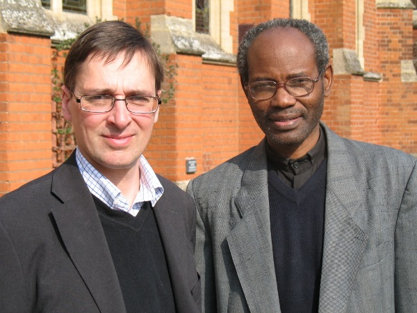 Bishop Mwita with Dr Ian Shaw (Director of Scholarship Programme, Langham Partnership UK & Ireland). Langham and Ridley co-funded Mwita's UK visit.