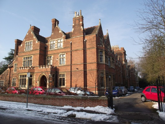 The front of Ridley College, Cambridge University