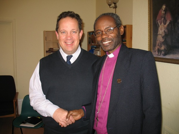 Bishop Mwita with Canon Andy Lines, CEO & Mission Director, Crosslinks UK.