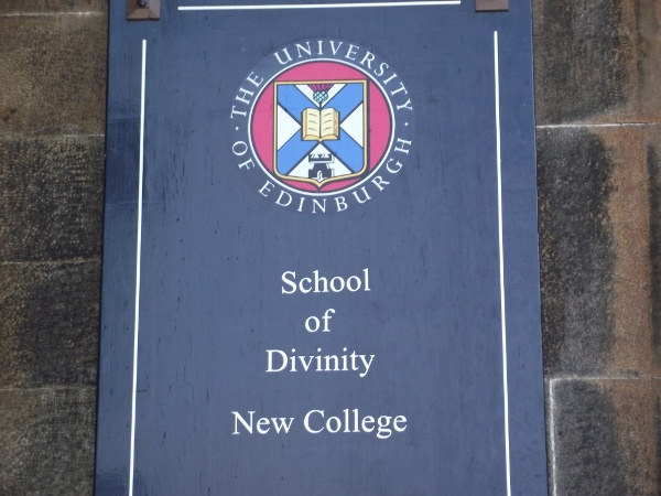 Signboard, School of Divinity, Edinburgh University