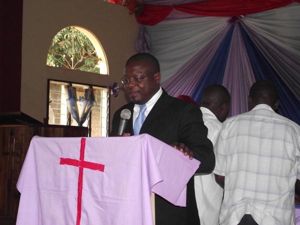 Compassion International Director for Tanzania, Mr Joseph Mayala leading the seminar on child ministry