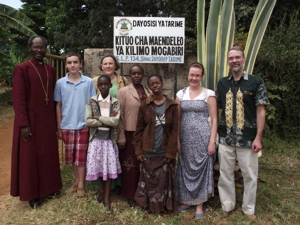The Sumners and the Akiris during the clergy retreat at Mogabiri Centre