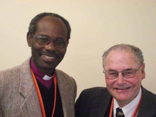 Bishop Mwita with Ron Taylor, the first General Secretary of the Province of Tanzania