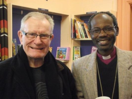 Bishops Tom Brown of Wellington, New Zealand, and Mwita Akiri of Tarime, Tanzania