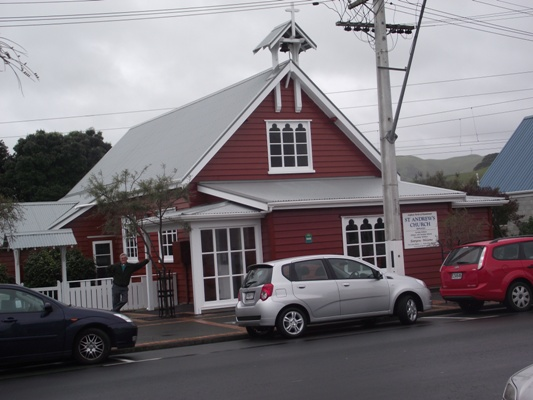 St Andrew's Plimmerton, Bishop Mwita preached here on Sunday July 24 and spoke to a Women's Fellowship on July 26