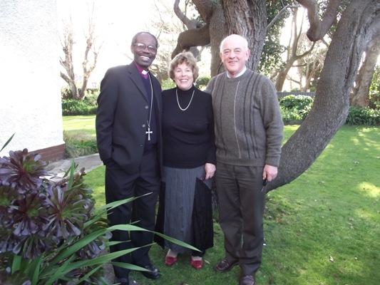 Bishop Mwita with his Wanganui co-hosts Mary and John Rowan