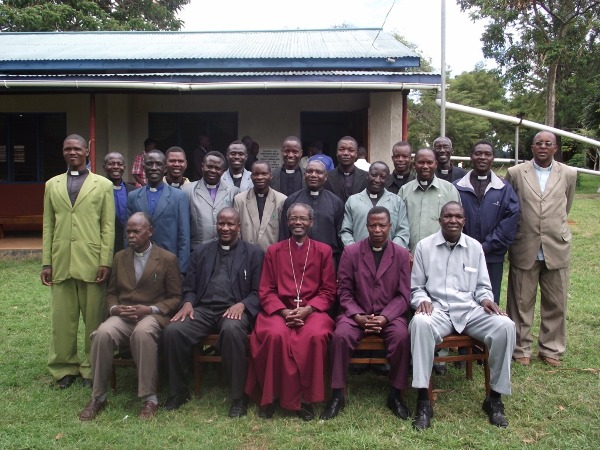 Bishop Mwita with Clergy at the Synod