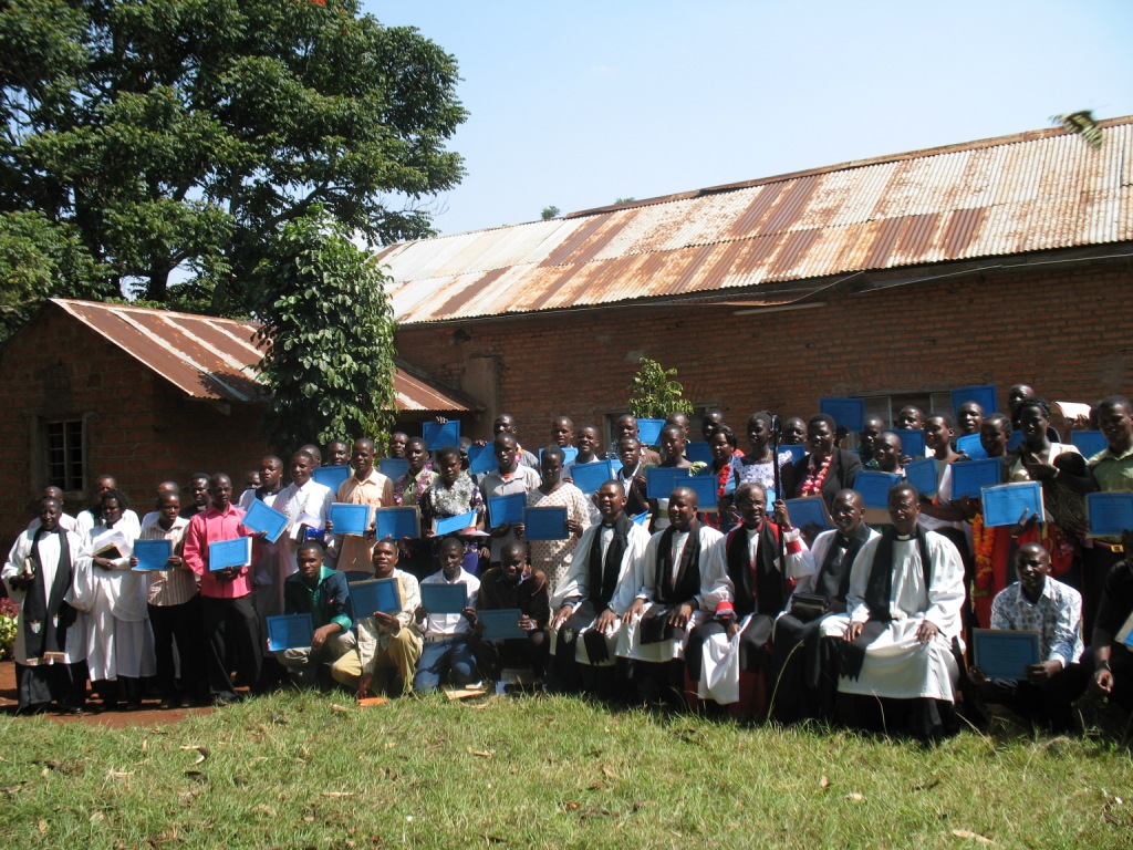 A group photo of 53 Evangelists after graduating on Sunday 30 June, 2013.