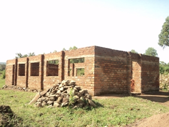 1-Gamasara church building before roofing.