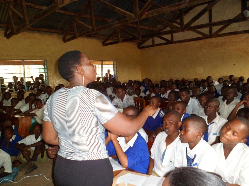 Roselyne Mosamma during a session on reproductive health