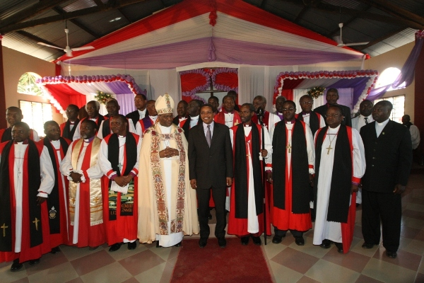 Group Photo of Bishops with President Kikwete