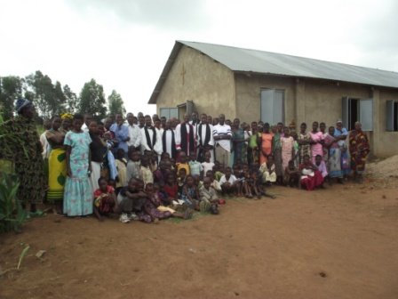 Kemairi congregation with Bishop Mwita