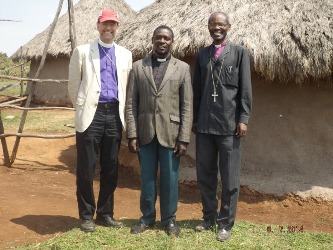 "LtoR Bishop Stephen Andrews (Algoma), Rev Elias Philemon, Bishop Mwita Akiri</span><span style=""font-size: 12.16px;\"">"