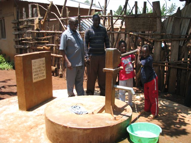 Well installed with money raised by improved farming