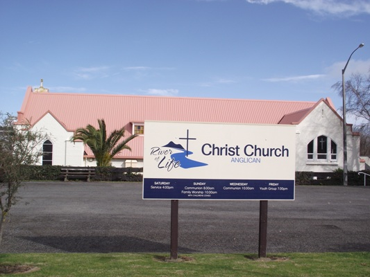 Christ Church, Wanganui. Bishop Mwita preached here on Sunday July 31