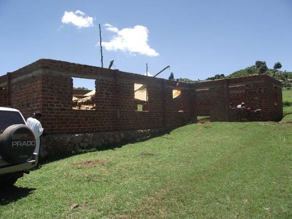Nyabitocho church building under construction with help of Todmorden parish, Wakefield, UK