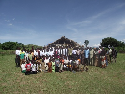 The congregation at Nyarwana Parish Church on 15 May 2011