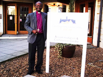 Bishop Mwita at the Cathedral Study Centre in Canterbury