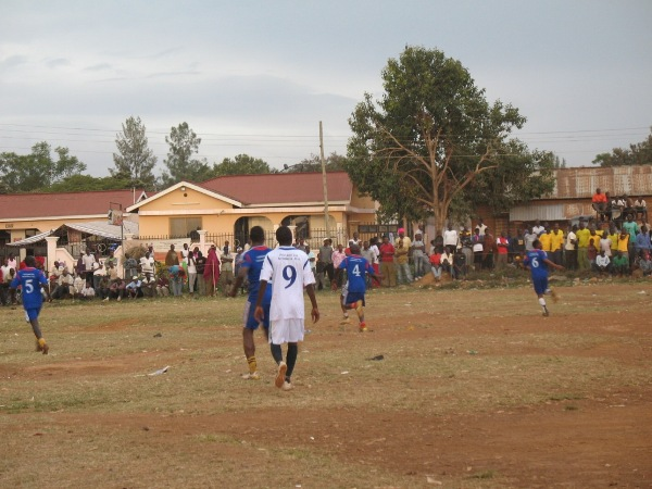 Mafundi Club from Tarime (in white) Vs Shirati Club from Rorya (in blue) on 27 August. Mafundi FC won 3-0..