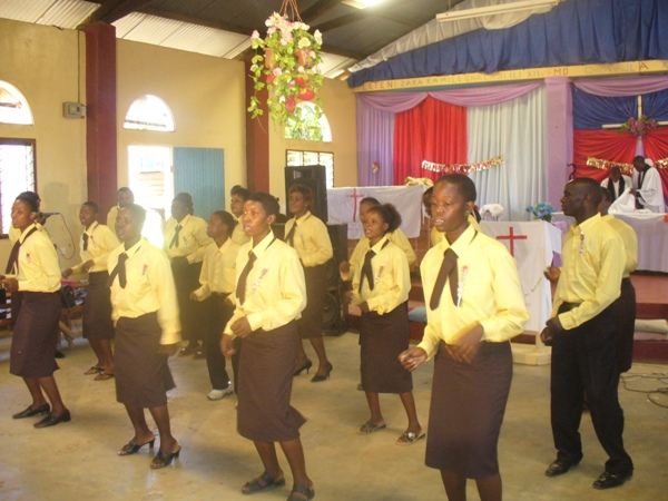 Tarime Anglican Choir (Tarime Parish) sings during the Holy Communion service ahead of voting by the special electoral Synod