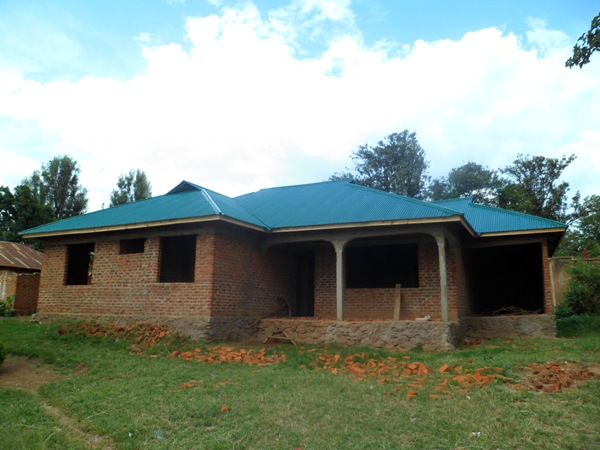 The pastor's house under construction