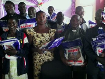 Clergy and Catechists after receiving mosquito nets donated by Christians in the Diocese of Wellington, New Zealand