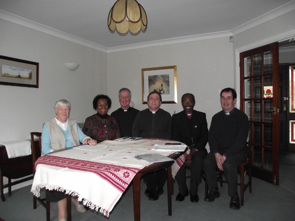 Bishop Mwita with members of the Tanzania Link Committee of the Diocese of Wakefield