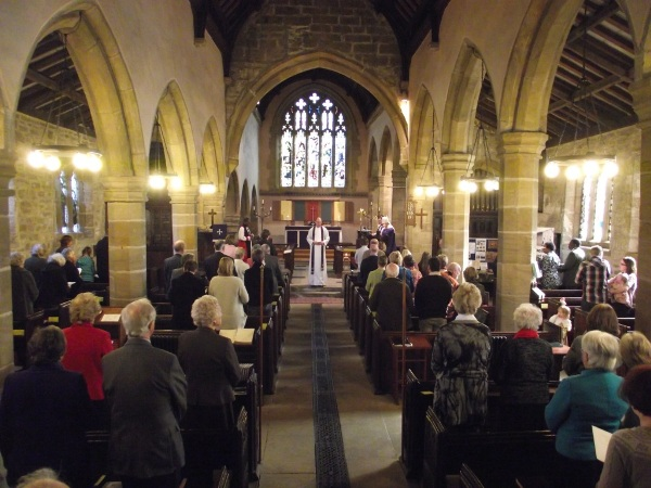 Sunday Service at St Peter's Woolley, Diocese of Wakefield, UK.