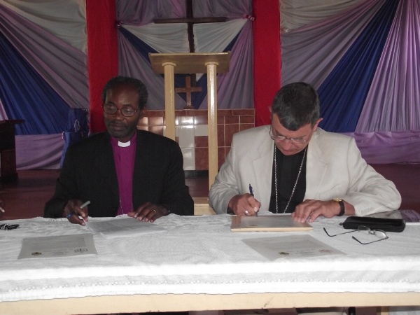 The signing of a partnership covenant