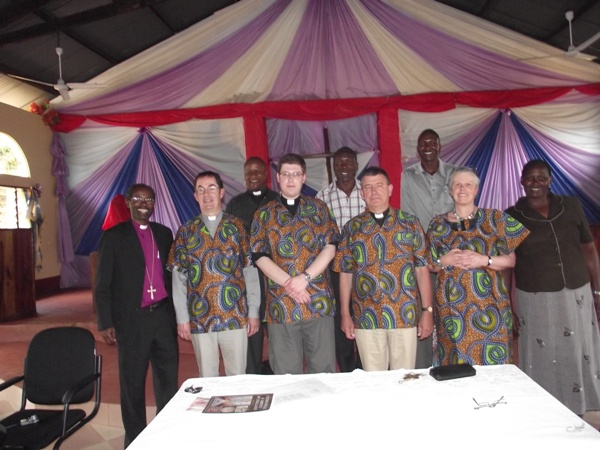 Officials of Wakefield and Tarime dioceses after the signing of the covenant