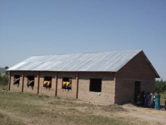 Nyagisya Church -  roof completed July 2013