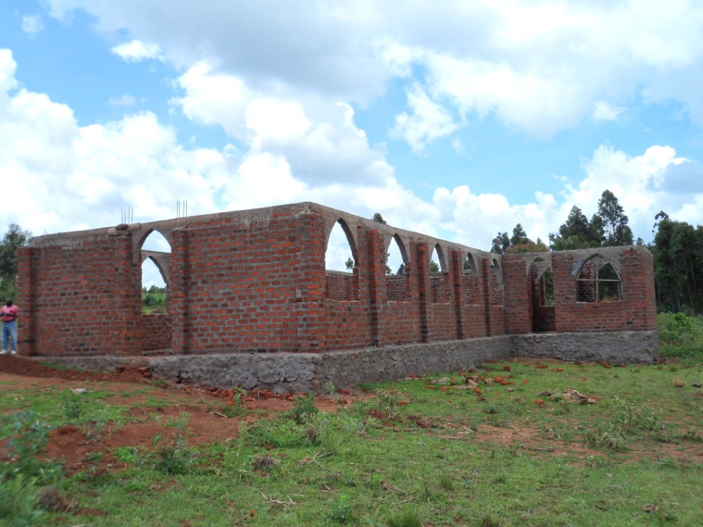 Mangucha church under construction