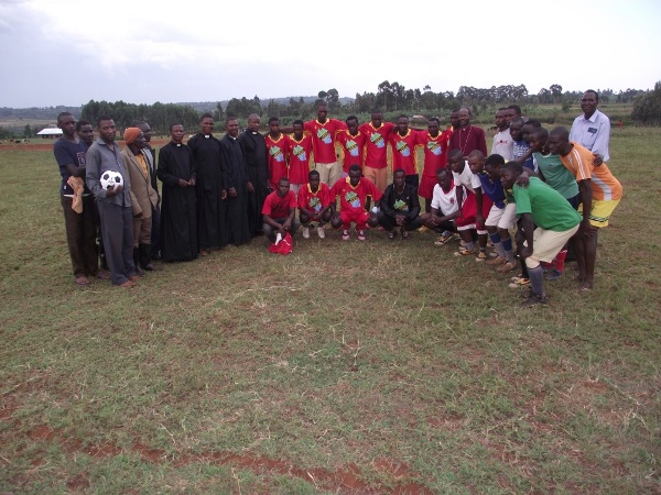 Group photo of church and village youth teams