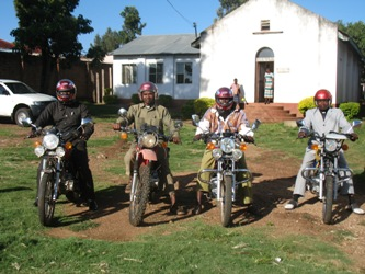 New motorcycles donated in July 2014.