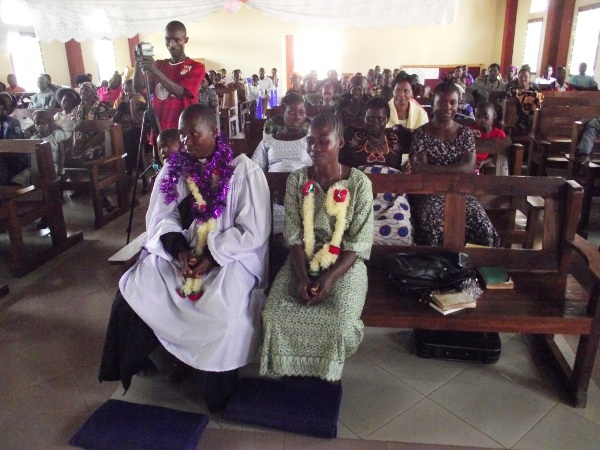 Rev. Msuma and his wife on day of his ordination Nov 28, 2010
