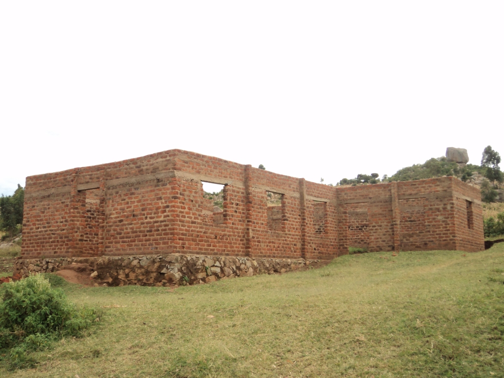 The walls are completed for the new church at Nyabitocho!